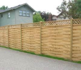 Wooden Trellis Fence Designs Wood Fence Designs Basketweave Wood Fence