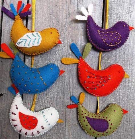 summer birds felt craft kit by corinne lapierre