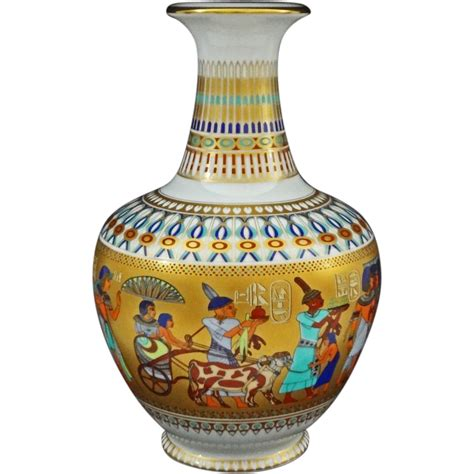 kaiser theben porcelain vase pharaoh tutankhamun