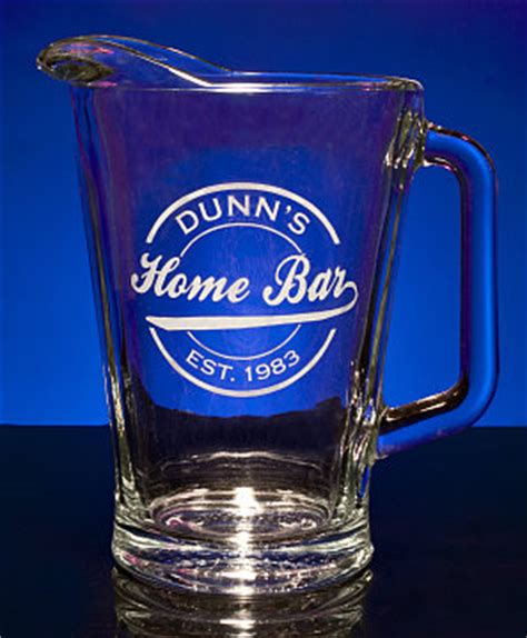 Glass Bar Pitcher Personalized Home Bar Glass Pitcher