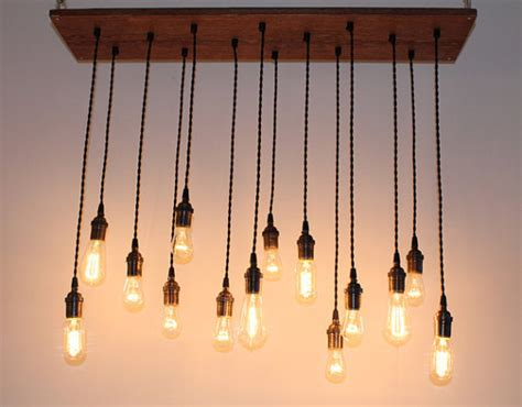 Hanging Ceiling Lights Ideas Repurposed Oak Industrial Hanging Light With Edison By Urbanchandy