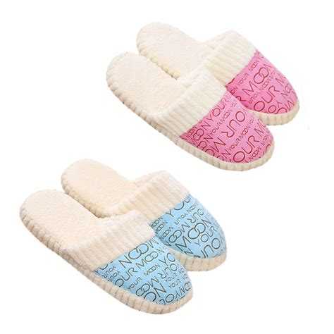 plush house slippers plush slipper expression men and women casual slippers winter warm indoor shoes house