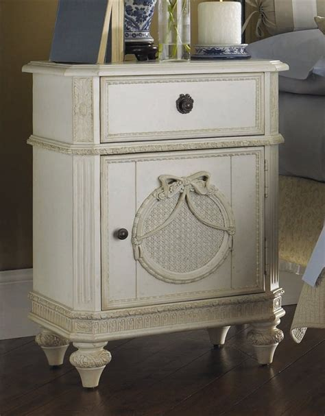 Vanity Table As Nightstand Distressed Nightstand The Color White