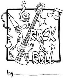 rock roll coloring pages kids coloring
