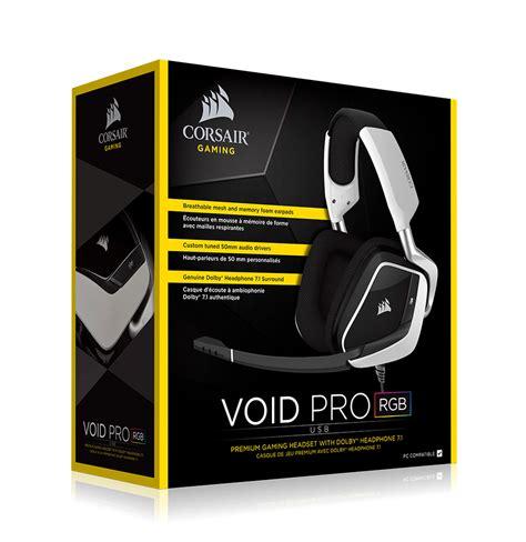 Headset Gaming Corsair Void Rgb Usb Gaming Headset Diskon corsair void pro rgb usb gaming headset white best deal