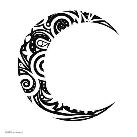 crescent moon tattoo design tribal moon designs tribal crescent moon