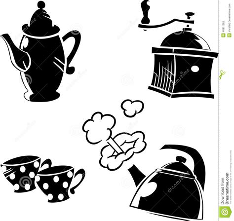 The Illustrations Below Show How Coffee Is Sometimes Produce Testbig by Crockery For Coffee Stock Vector Image 46811382