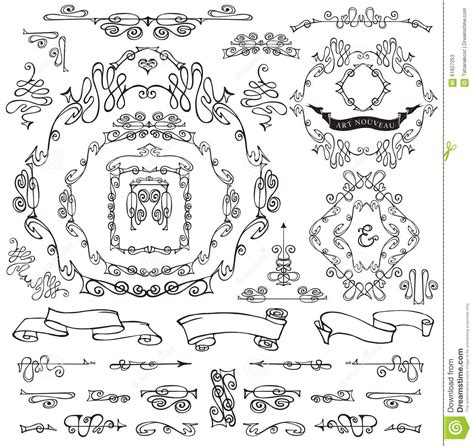 royal design elements vector calligraphic royal design elements frames borders stock