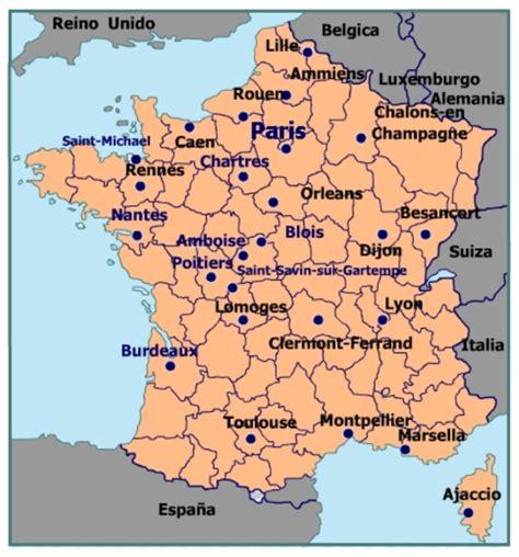 imagenes satelitales de francia francia ciudades mas importantes mapa