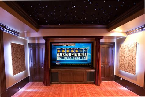 home theater   sky ceiling traditional home