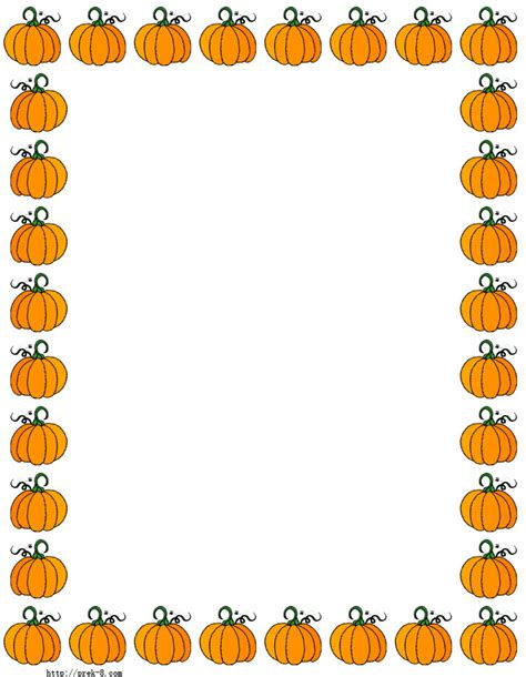 printable paper pumpkin halloween cute pumpkins border paper free printable