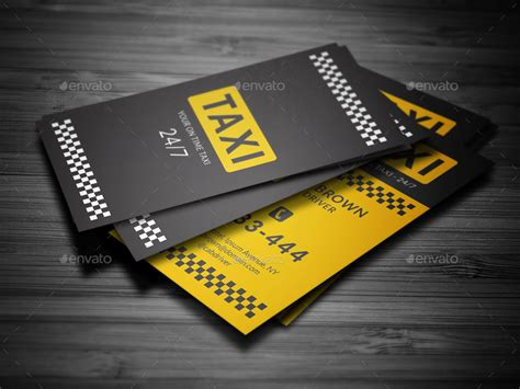 Taxi Name Card Template by Taxi Business Card By Mr Design Graphicriver