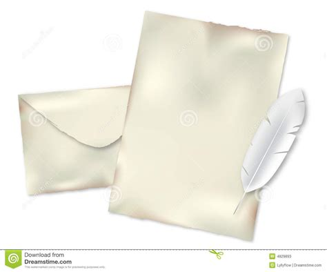 Pen Paper Kiky Envelope envelope paper and pen stock photos image 4829893