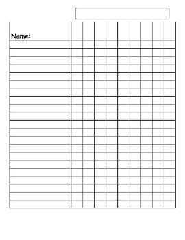 free class list templates for teachers class list templates school