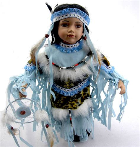 porcelain doll american indian collectible porcelain indian american doll quot eyota