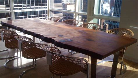 custom made wood dining room table contemporary dining