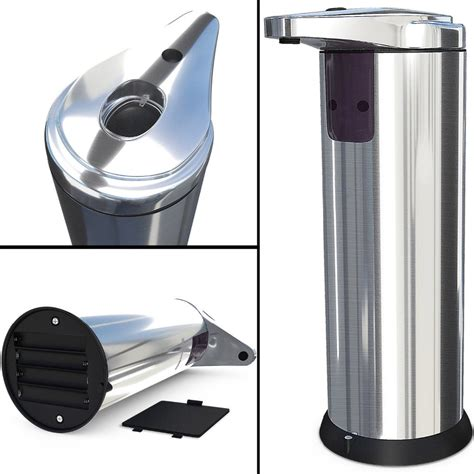 Dispenser Sabun Dispencer Soap 1 Satu Tabung stainless steel sensor automatic soap dispenser sabun otomatis silver jakartanotebook