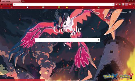 themes chrome pokemon pokemon x y yveltal google chrome theme by hellfrenzy on