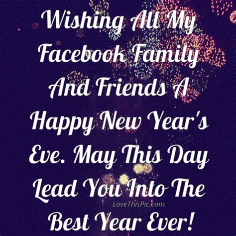 wishing all my facebook family and friends a happy new