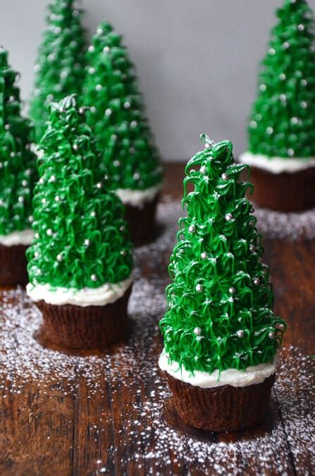 just a taste christmas tree cupcakes