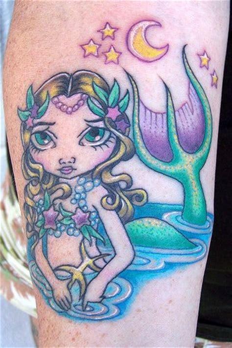 sexy mermaid tattoo cartoonish mermaid in colour tattooimages biz
