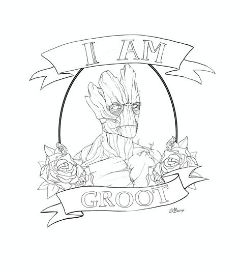 I M Drawing The Line by I Am Groot Design Commission Lines By Die Beckx