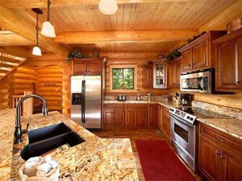 log home kitchens, Log Cabin Homes Interior Kitchen Log