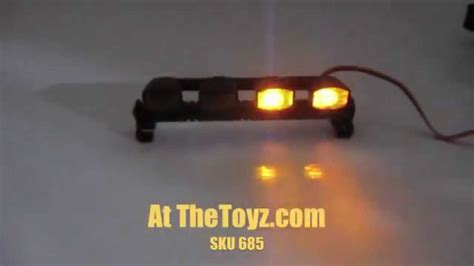 yellow led light bar 1 10 rc yellow emergency tow truck led light bar