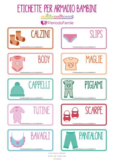armadi per bimbi etichette da stare per organizzare bene l armadio dei