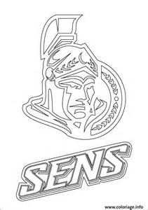 coloriage ottawa senators logo lnh nhl hockey sport