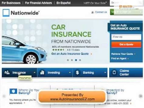 nationwide car insurance company review ratings youtube