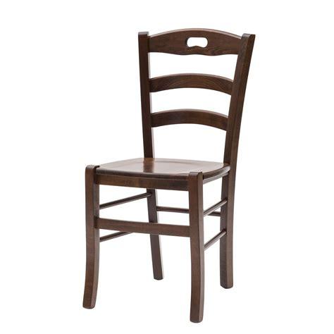 sedia legno sedia paesana savoy fondo legno color noce 2 pezzi