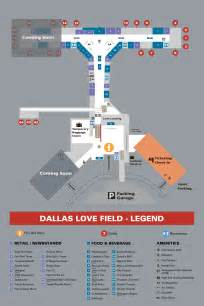 Dallas Love Field Airport Map dallas texas love field airport