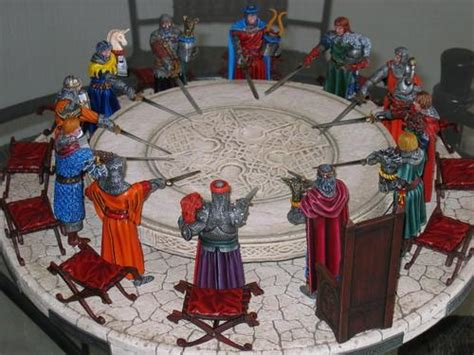 image de la table ronde la table ronde collection fantastique peinte par m