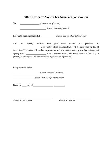 9 Best Images Of Five Day Notice 5 Day Eviction Notice Template 5 Day Eviction Notice 5 Day Notice Illinois Template