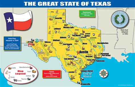 product map of texas gallopade international texas state map