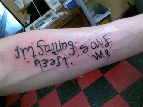 im fine save me tattoo ambigram tatting and ambigram