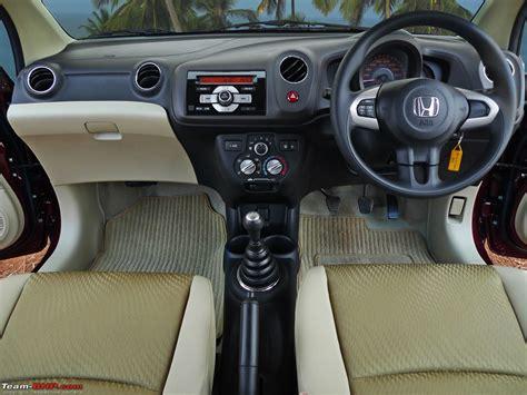 Amaze Car Interior by Honda Amaze Official Review Team Bhp