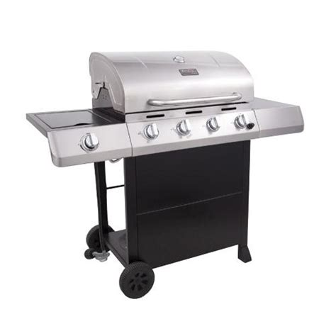 char broil 4 burner stainless steel gas grill with cabinet char broil 463439914 4 burner gas grill with side burner 40 000 btus 660 total sq inch