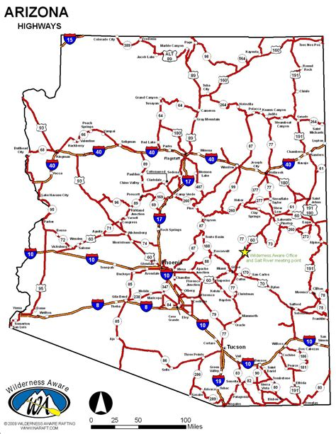arizona map with cities arizona map with cities