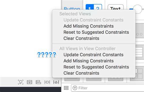 auto layout update frames programmatically xcode8になってからauto layoutのupdate framesボタンの位置が変わった qiita