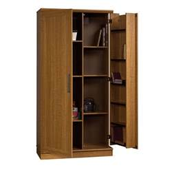 Sauder Storage Cabinet Sauder 411965 Home Plus Storage Cabinet Swing Out Door Brown Sears Outlet