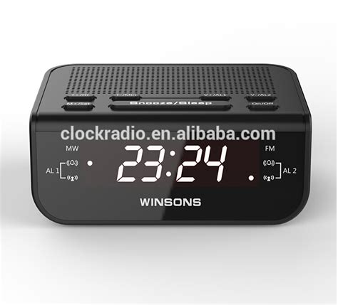 Bedroom Alarm Clock Radio Led Display Digital Home Fm Band Alarm Clock Radio Scanner