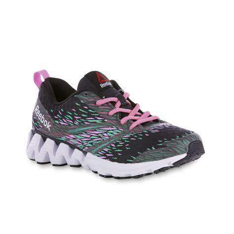 reebok s zigkick gray pink teal running shoe