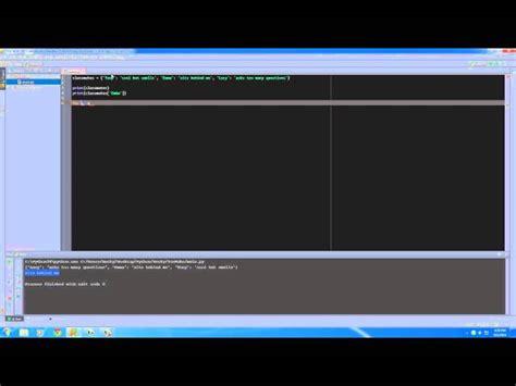 tutorial python dictionary python programming tutorial 20 dictionary coders website