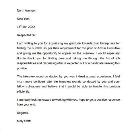 follow interview letters sample templates