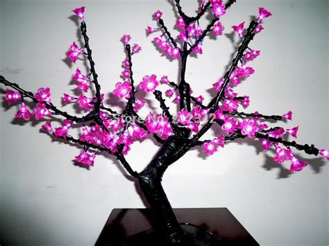 led bonsai christmas tree light led cherry blossom tree