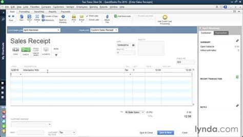 quickbooks 2016 how to edit sales receipt template creating sales receipts for sales