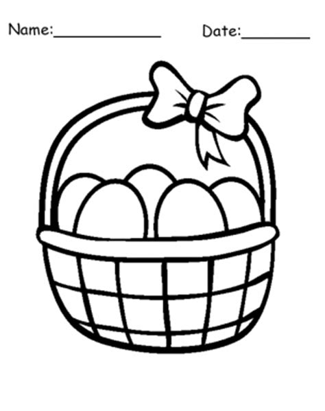egg basket coloring page easter eggs basket printable coloring pages clipart best