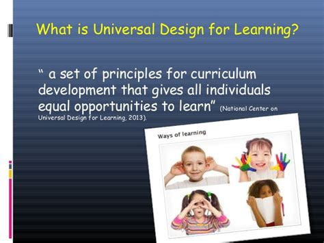 universal design for learning powerpoint udl final presentation ppt 1